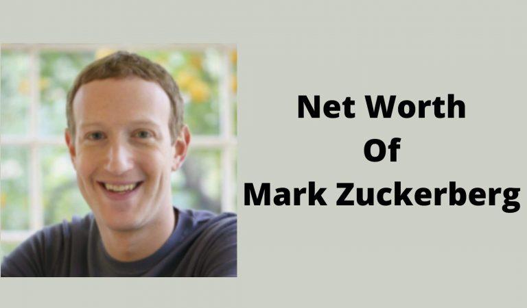 How Much Is The Net Worth Of Mark Zuckerberg 2021?